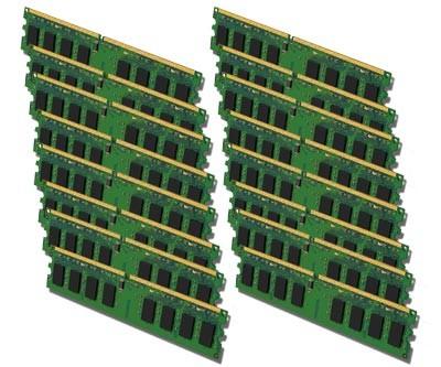 PC Arbeitsspeicher - 16x 512MB DDR2 - PC2-4200 533 MHz - nach Lagerbestand