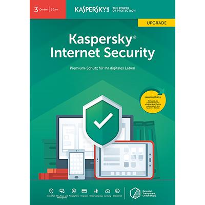 Kaspersky Internet Security (2019) Upgrade - 3 Geräte / 12 Monate - ESD