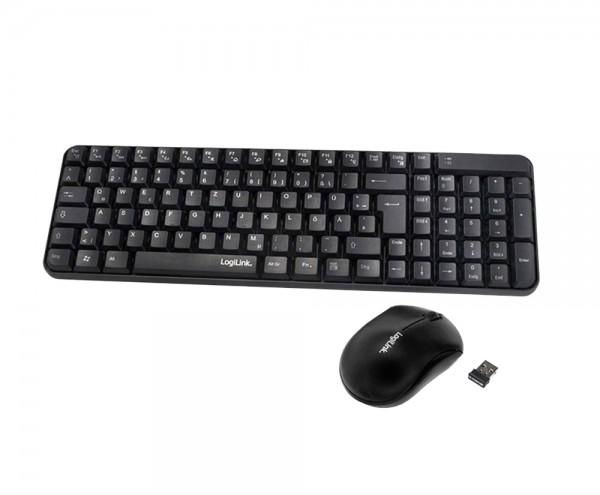 LogiLink - Funk Maus und Tastatur Set - QWERTZ Schwarz