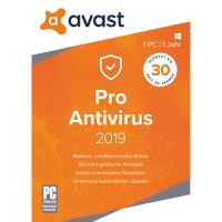 AVAST Pro Antivirus 2019 - 1 PC / 1 Jahr - ESD
