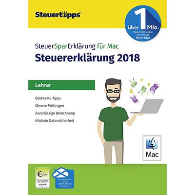 SteuerSparErklärung Lehrer 2019 MAC (für Steuerjahr 2018) - ESD