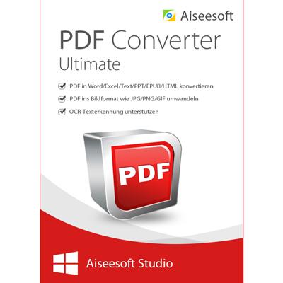 Aiseesoft PDF Converter Ultimate (Version 2017) - lebenslange Lizenz - ESD