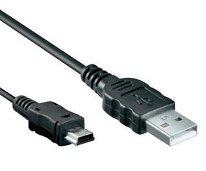 USB 2.0 zu Mini USB Adapter Kabel - 1,2 Meter - Schwarz