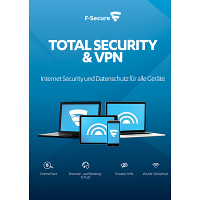 F-Secure Total Security und VPN 2017 5 Geräte / 12 Monate - ESD