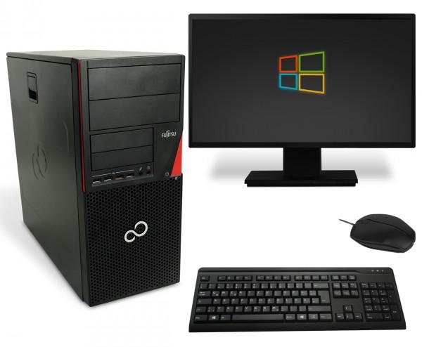 Fujitsu Esprimo P720 Tower PC Computer Bundle - Intel Core i3-4130 2x 3,4 GHz