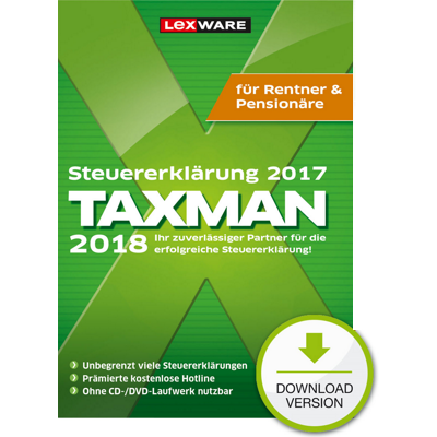 TAXMAN 2018 Rentner & Pensionäre - ESD