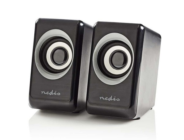PC Lautsprecher Nedis-CSPR20020BK - Stereo 2.0
