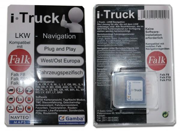 iTruck LKW-Navigationssoftware - 4GB SD-Karte