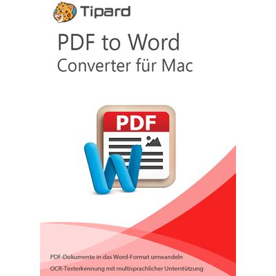 Tipard PDF to Word Converter für Mac - lebenslange Lizenz - ESD