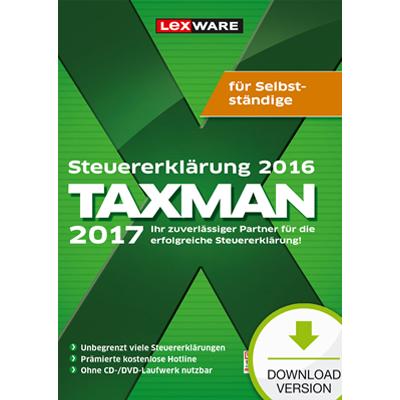 TAXMAN 2017 für Selbstständige (für Steuerjahr 2016) - ESD