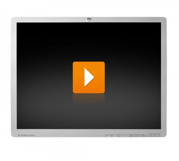HP LA1951g - 19 Zoll TFT Flachbildschirm Monitor - Schwarz / Silber - ohne Standfuß