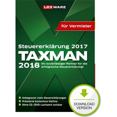 TAXMAN 2018 für Vermieter - ESD