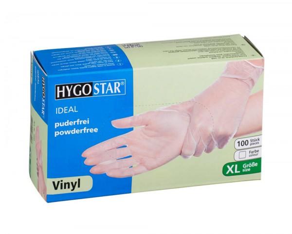 Vinyl-Handschuhe Ideal puderfrei XL 24cm, transparent weiss, Franz Mensch - 100er Pack