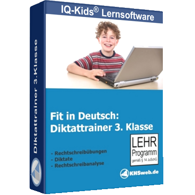 Fit in Deutsch - Diktattrainer - Klasse 3 - ESD