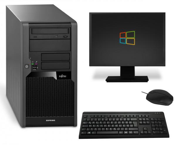 Fujitsu Esprimo P5730 Komplettsystem PC Computer - Intel Dual-Core E5400 2x 2,7 GHz