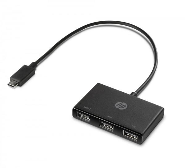 HP USB-C zu USB-A-Hub - PN915049-001