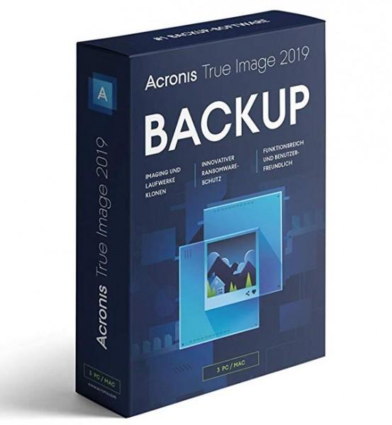 Acronis True Image 2019 für 3 PC / Mac