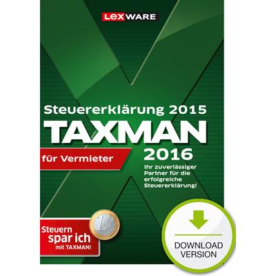 TAXMAN 2016 für Vermieter (für Steuerjahr 2015) - ESD