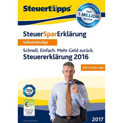SteuerSparErklärung für Selbstständige 2017 (für Steuerjahr 2016) - ESD