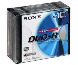 Sony - DVD+R Rohlinge - 4,7GB - 10er Pack