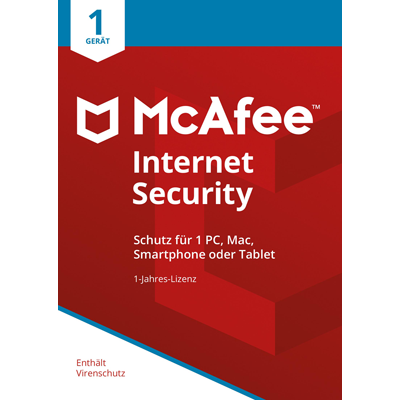 McAfee Internet Security 2018 1 Gerät / 12 Monate - ESD