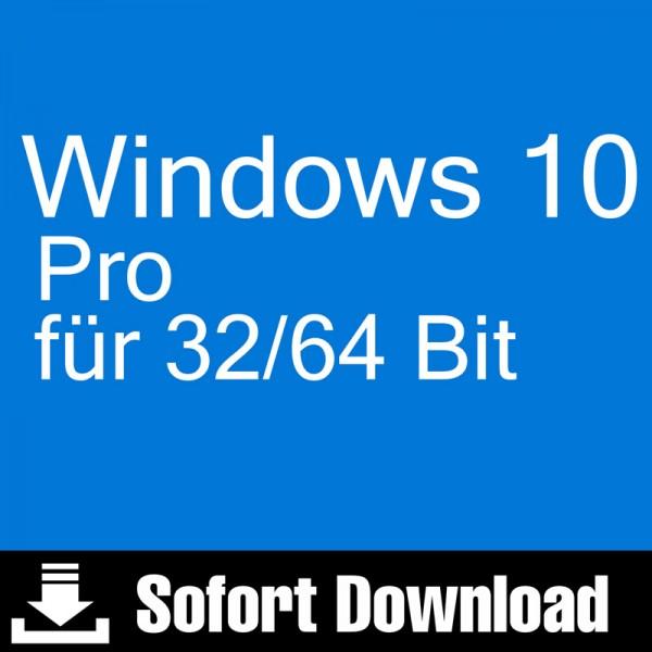 Windows 10 Pro Download Aktivierungsschlüssel für 32 / 64 Bit - Vollversion
