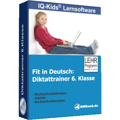 Fit in Deutsch - Diktattrainer - Klasse 6 - ESD