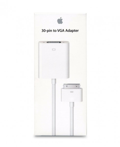 Original Apple MC552ZM/B 30-pin to VGA Adapter - A1368 - weiß