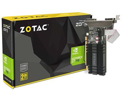 Nvidia GeForce GT 710 Grafikkarte mit 2GB DDR3 Speicher - 1x VGA 1x DVI 1x HDMI