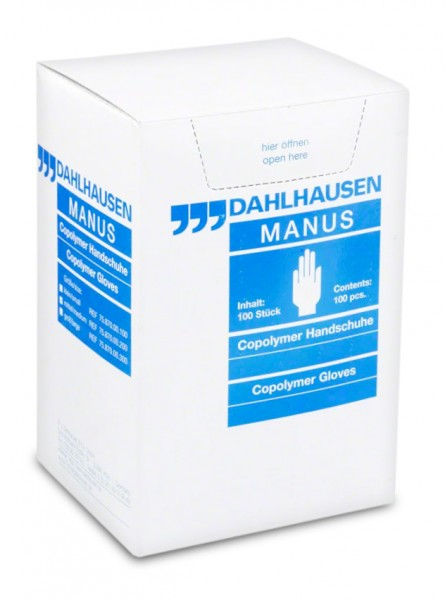 Copolymer Untersuchungshandschuhe - steril verpackt - puderfrei Größe M - 100er Pack