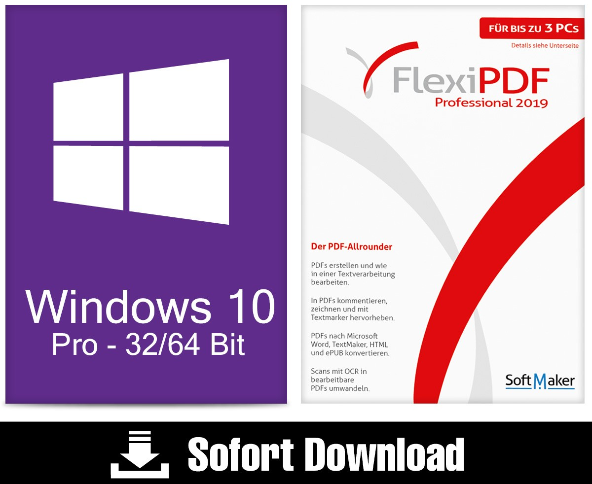 Windows 10 Pro + Flexi PDF Professional 2019 – ESD