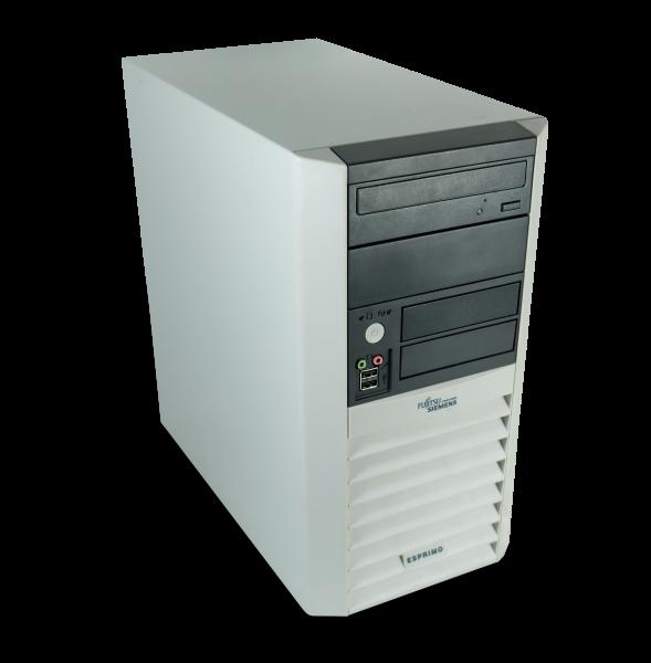 Fujitsu Esprimo P5905 Tower PC Computer - Intel Celeron-G3930 2x 2,9 GHz 1GB DDR2 500GB HDD DVD