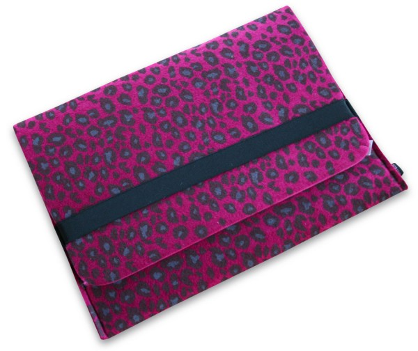 Notebooktasche / Sleeve Noratio LEO aus Filz für 13,3 Zoll Laptops - Bordauxe