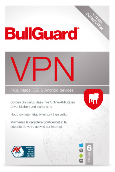 BullGuard VPN 2021 - 6 Geräte / 1 Monat