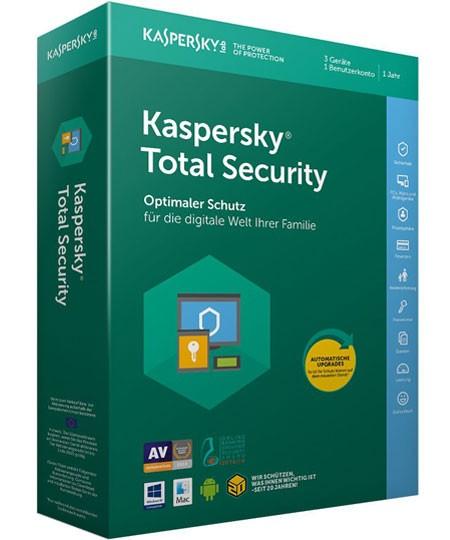Kaspersky Total Security - 3 PC / 1 Jahr - Box