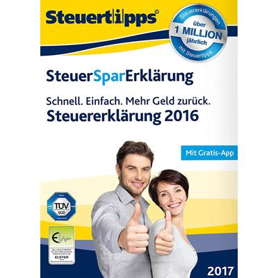 SteuerSparErklärung 2017 (für Steuerjahr 2016) - ESD
