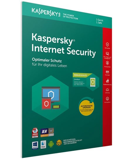 Kaspersky Internet Security - 1PC / 1 Jahr + Android Security