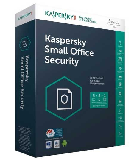 Kaspersky Small Office Security - 5 Rechner / 5 Mobilgeräte / 1 Server / 1 Jahr